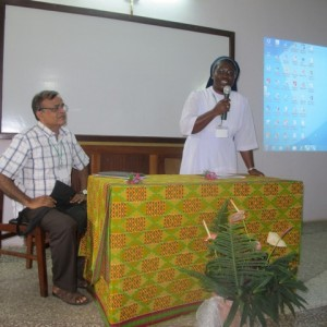 Fr. Thomas D' Mello, svd Sr. Dinah Ofosu, SSpS at the opening ceremony of the workshop